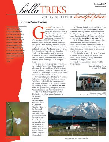 2007 newsletter - Bella Treks