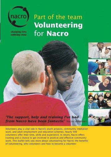 Volunteering for Nacro 04