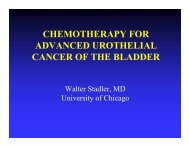 chemotherapy for advanced urothelial cancer of the bladder