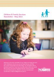Children & Family Services Newsletter - May 2013 - Golden Plains ...