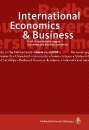 International Economics & Business at Radboud University Nijmegen