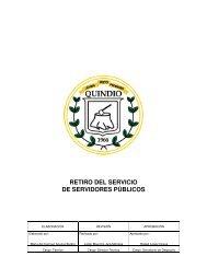 RETIRO DEL SERVICIO DE SERVIDORES PÚBLICOS