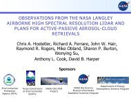 observations from the nasa langley airborne high spectral ... - ARM