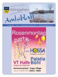 Amtsblatt vom 09.02.2012 (KW 6) - Gemeinde Böhl-Iggelheim