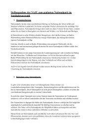 Stellungnahme der NAJU zum geplanten Nationalpark im ...