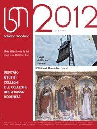 luglio - settembre 2012 (pdf - 1.6 MB) - Ordine Provinciale dei Medici ...
