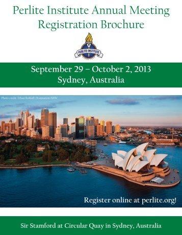 the Registration Brochure - Perlite Institute