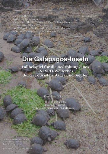 Die Galápagos-Inseln - TomBlog