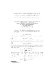 PARTIAL REGULARITY OF FINITE MORSE INDEX ... - CAPDE