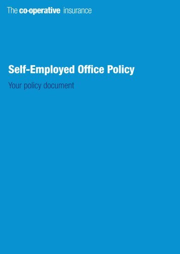 Self-Employed Office Policy - The Co-operative Insurance