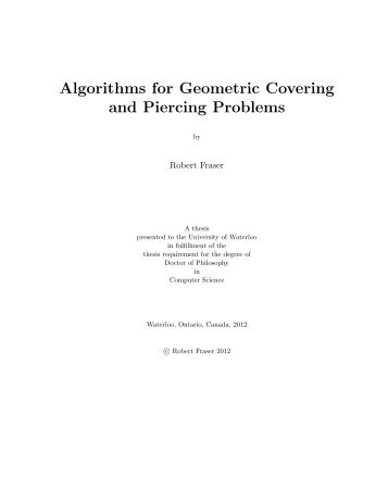 Algorithms for Geometric Covering and Piercing Problems
