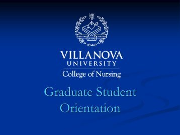 Technology Orientation - Villanova University