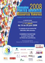 Portes ouvertes RH 2008 - Consulting News Line