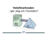 Hotellmarknaden – Igår, idag och i framtiden?