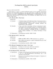 West Bengal State AIDS Prevention & Control Society NOTICE ...