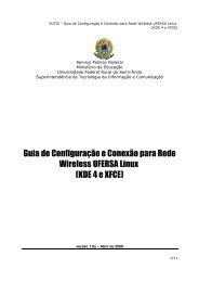 Configuração da Rede Wireless UFERSA no Windows XP