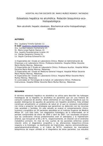 Esteatosis hepática no alcohólica. Relación ... - SciELO - Infomed