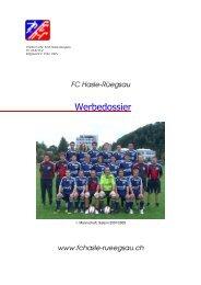 Sponsoringmöglichkeiten - FC Hasle-Rüegsau