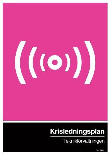 Teknikförvaltningens krisledningsplan - Enköping