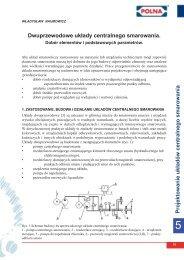 dobór elementów i podstawowych parametrów - Polna S.A.