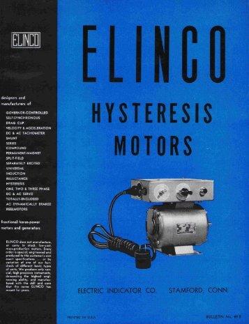 Hysteresis Motors - Stamford - Elinco