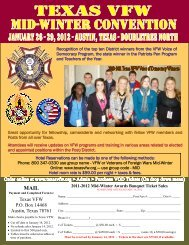 2012 color registration form - Department of Texas Veterans of ...