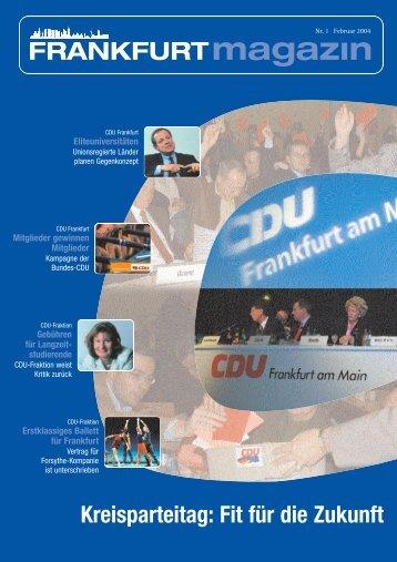 Nr.1 Februar 2004 - CDU-Kreisverband Frankfurt am Main