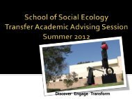 degree requirements - Social Ecology Student Services - University ...