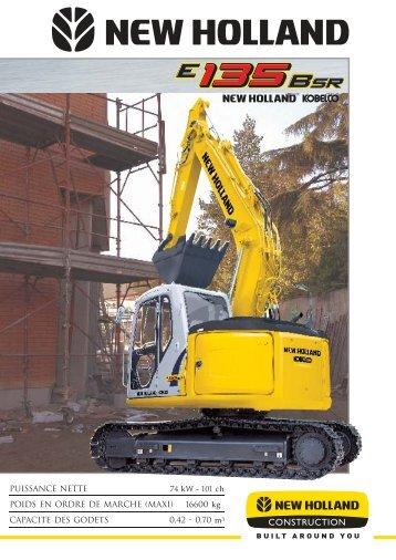 Documentation New Holland E135 BSR - Enco-materiel-TP