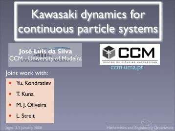 Kawasaki dynamics for continuous particle systems - Universidade ...