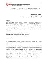 benefícios e cuidados no uso da terceirização - Faculdade Padre ...