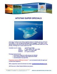 AITUTAKI SUPER SPECIALS - Island Hopper Vacations