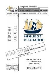 Sonderausgabe KV-Wahl Jun02.pub - Kirchengemeinde Hütten
