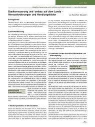 Stadterneuerung und -umbau auf dem Lande – Herausforderungen ...