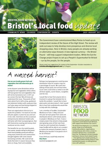 juLy–AuguST 2011 - Bristol Local Food Directory