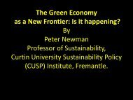 The Green Economy as a New Frontier: Is it happening? By Peter ...