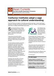 Asian Currents - Asian Studies Association of Australia