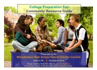 College Preparation Fair - Wissahickon School District