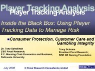 Inside the Black Box: Using Player Tracking Data to Manage Risk