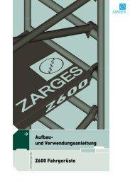 Aufbau- und Verwendungsanleitung Z600 Fahrgerüste - Overworx