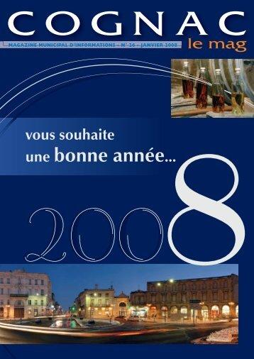 Cognac le mag janv 2008 - Ville de Cognac