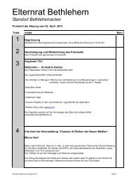 Protokoll April 2013 - Elternrat Bethlehem