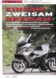 400er Vergleich: Piaggio/Suzuki/Yamaha - August 2006