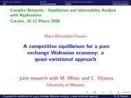 A competitive equilibrium for a pure exchange Walrasian economy ...