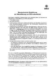 Messtechnische Rückführung zur Akkreditierung von DKD ...
