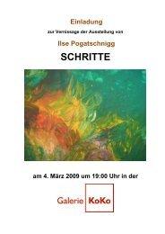 Einladung zur Ausstellung / Lebenslauf - Galerie KoKo
