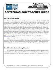 3-5 TECHNOLOGY TEACHER GUIDE - Cosi