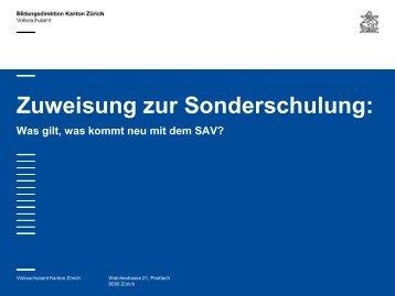 2 Standardisiertes Abklärungsverfahren (SAV) (PDF ... - Volksschulamt