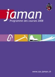 Programme des courses 2008 - Club Alpin Suisse Section Jaman