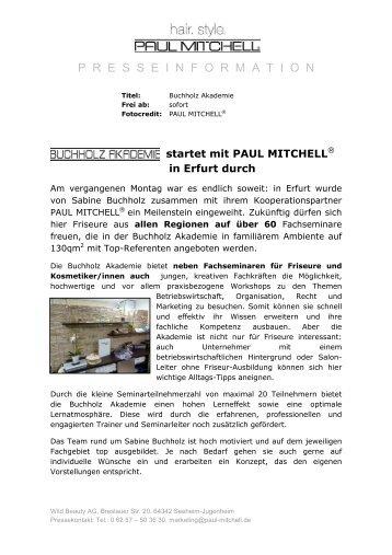 Buchholz Akademie - Paul Mitchell